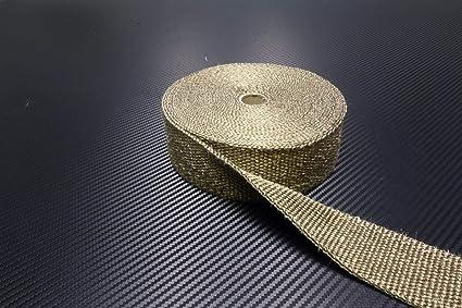 Schlauchland 10m Titan Hitzeschutzband 25mm 1400 C Auspuffband Thermoband Krümmerband Heat Wrap Basaltfaser Isolierband Garten