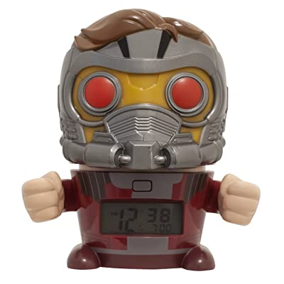 BulbBotz Marvel 2021746 Avengers: Infinity War Star-Lord Kids Night Light Alarm Clock with Characterised Sound | Red/Silver | plastic | 5.5 inches tall | LCD display | boy girl | official: Home & Kitchen