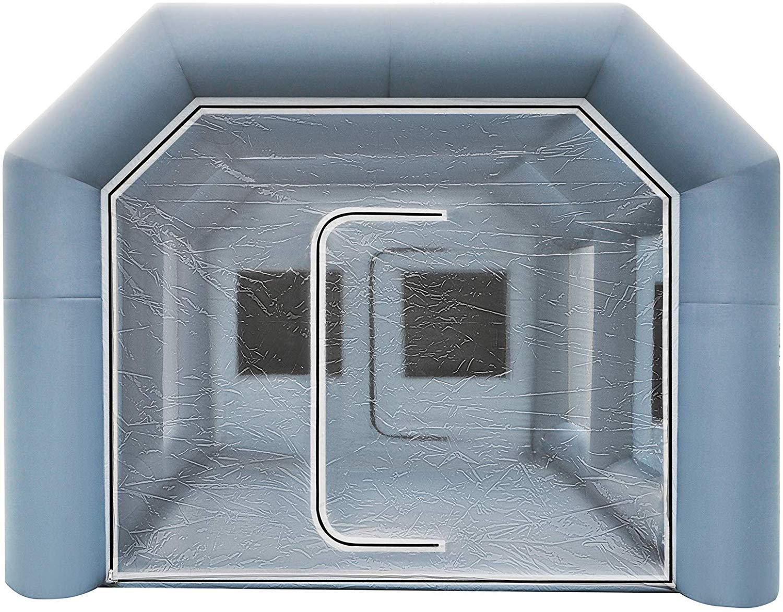 8x4x3m Gonflable Cabine De Pulv/érisation Tente Cabine De Pulv/érisation Tente Tente De Lair Tente Camping Tente De Pulv/érisation Cabine avec 2 Ventilateurs
