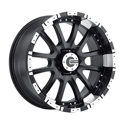 amazon com mamba m12 matte black wheel with machined lip 20x9