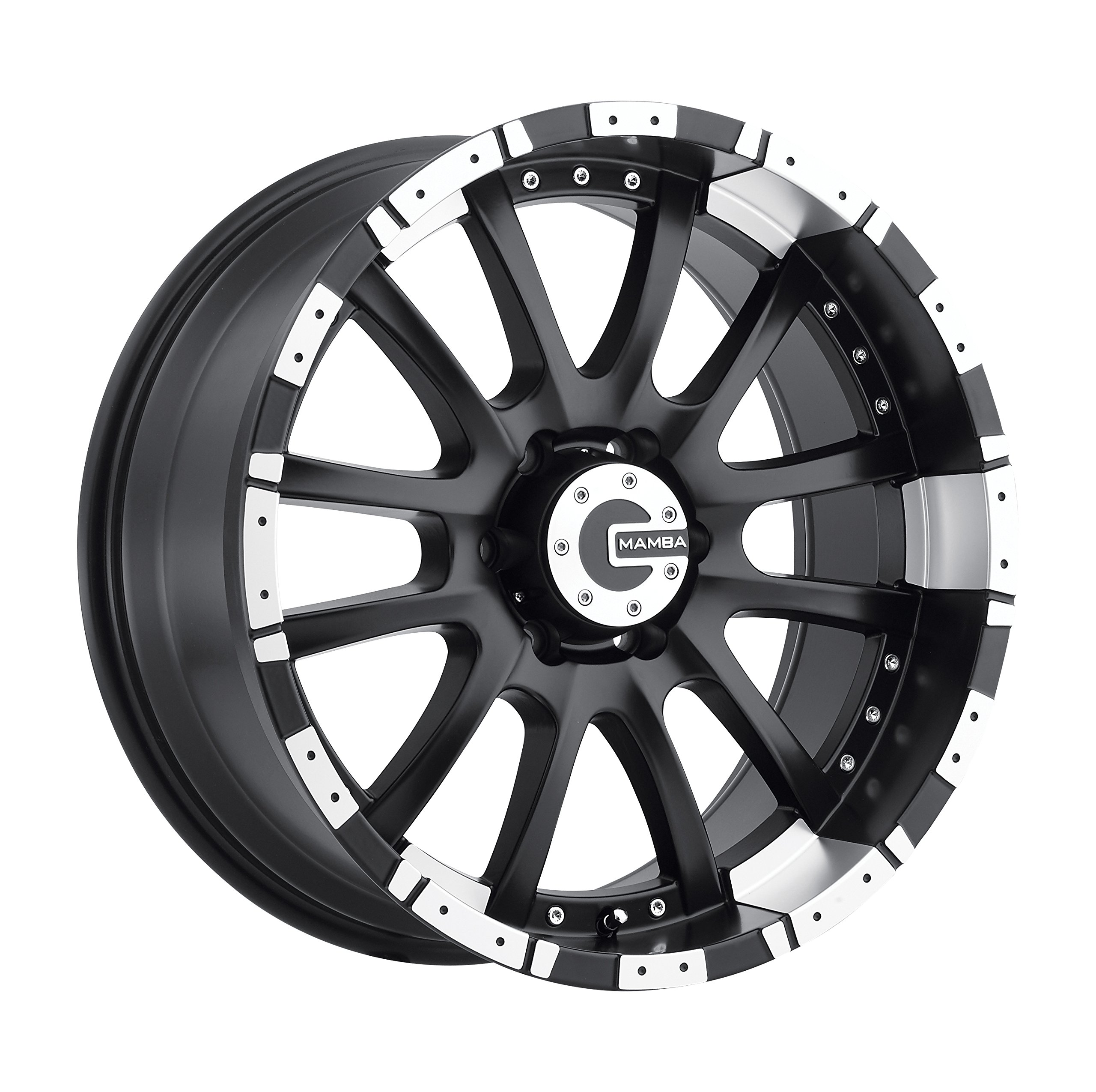 Mamba-M12-Matte-Black-Wheel-with-Machined-Lip-20x96x135mm-12mm-offset