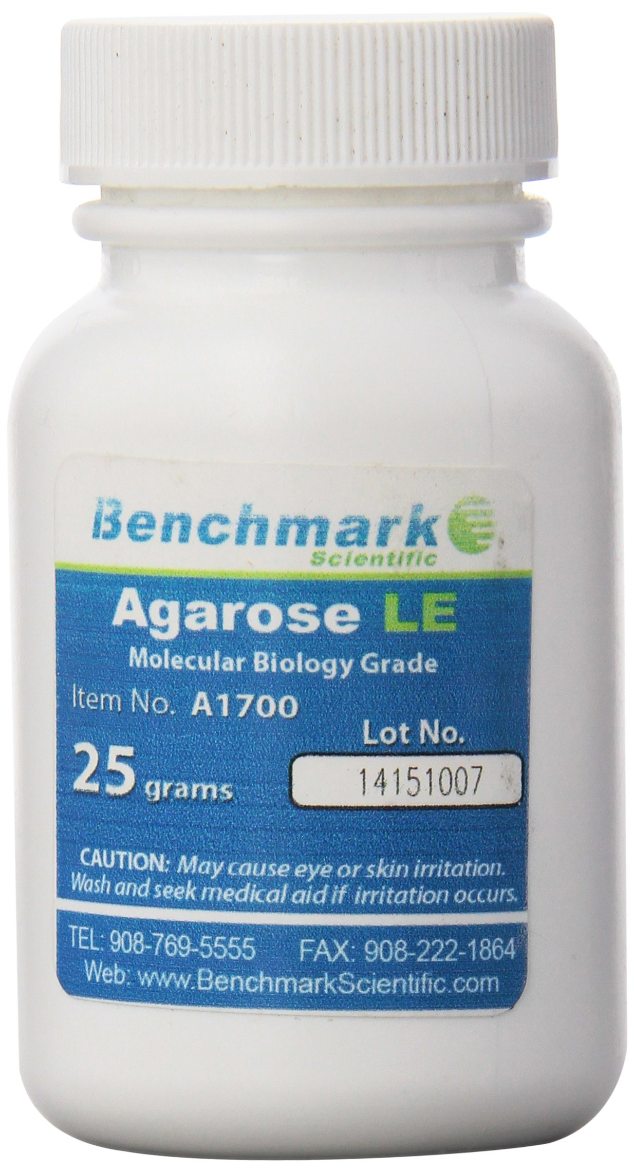 Benchmark Scientific A1700 Agarose LE Powder, Highly Purified for Molecular Biology, 25 g by Benchmark Scientific