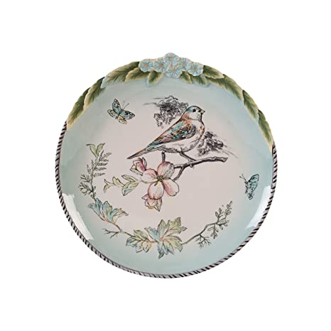 Fitz and Floyd English Garden Accent with Birds Dinner Plates Baby Blue  sc 1 st  Amazon.com & Amazon.com | Fitz and Floyd English Garden Accent with Birds Dinner ...