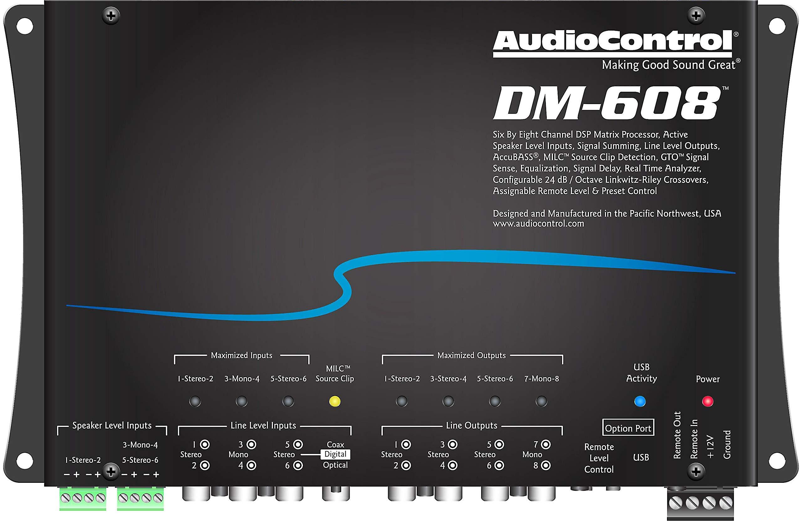 AudioControl DM-608 6 by 8 Channel Matrix Digital Signal Processor by AudioControl