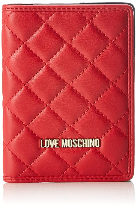 Love Moschino - Portafogli Nappa Pu Rosso, Carteras de mano Mujer, Rojo (Red