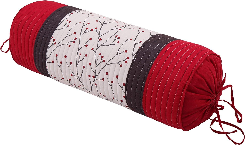Holly Neckroll Christmas Pillow