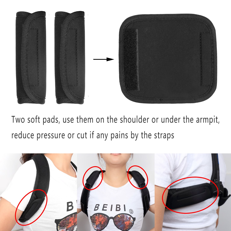 Back Posture Corrector for Women Men, Effective Primate Posture Brace & Armpit Pads, Comfortable Clavicle Brace, Adjustable Thoracic Kyphosis Brace, Upper Back Clavicle Posture Support (REG 32''-45'') by Risheng (Image #6)