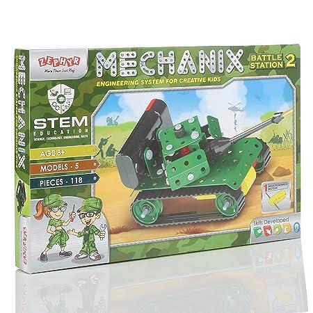 Mechanix Battle Station,Construction Set,War Themed Building Blocks,for 6+ yrs Boys and Girls