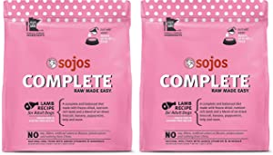 SOJOS 2 Pack of Lamb Complete Raw Freeze-Dried Dog Food, 7 Pounds Each, Grain- and Gluten-Free