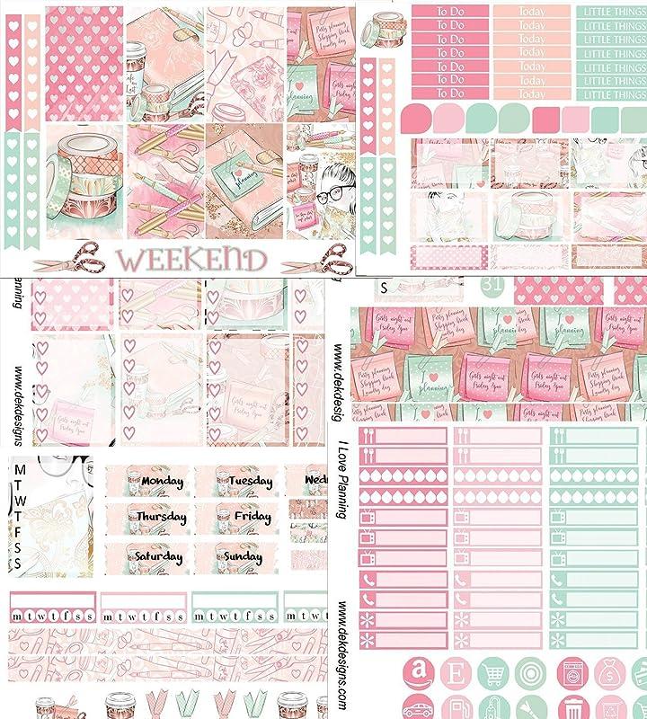 Plum Paper or Mambi Happy Planner Weekend Getaway Collection Weekly Kit Planner Stickers for Erin Condren Life Planner K1011
