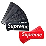 Xorastra 100-Pack Supreme Box Logo Sticker, Classic Supreme Box Logo Sticker, Supreme Replica PVC Decals, Streetwear Supreme Stickers