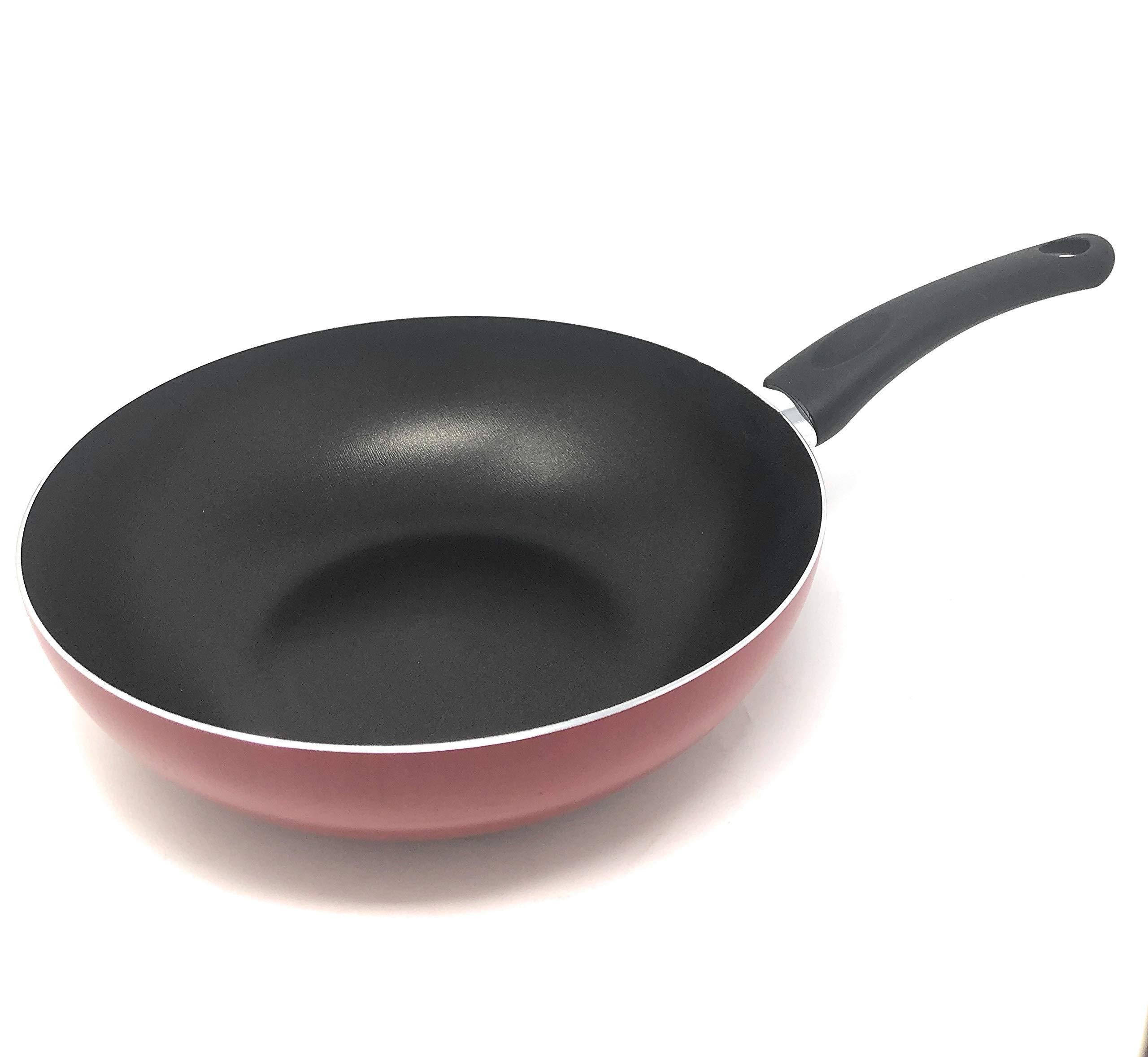 RAVELLI Italia Linea 10 Non Stick Wok Stir Fry Pan, 11inch