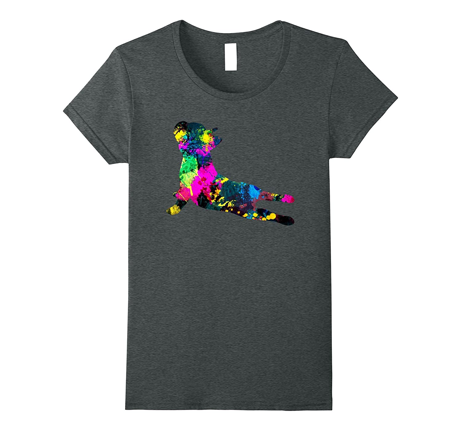 Colorful French Bulldog T Shirt Heather-Tovacu