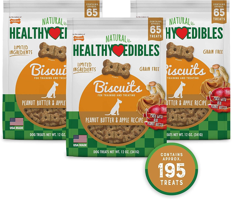 Nylabone Healthy Edibles Biscuits Grain Free Dog Treats Bundle