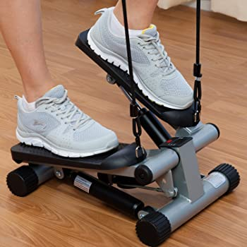 Sunny Health & Fitness Mini Stepper with Resistance Bands review