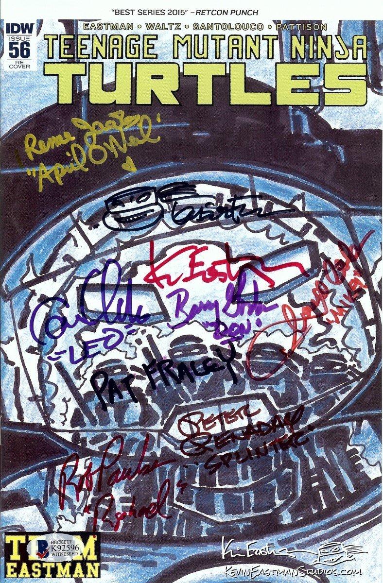 Teenage Mutant Ninja Turtles Cast Signed Comic Book 8 Autos ...