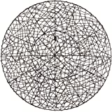 "Round Woven 30"" Wide Metal Wall Art"