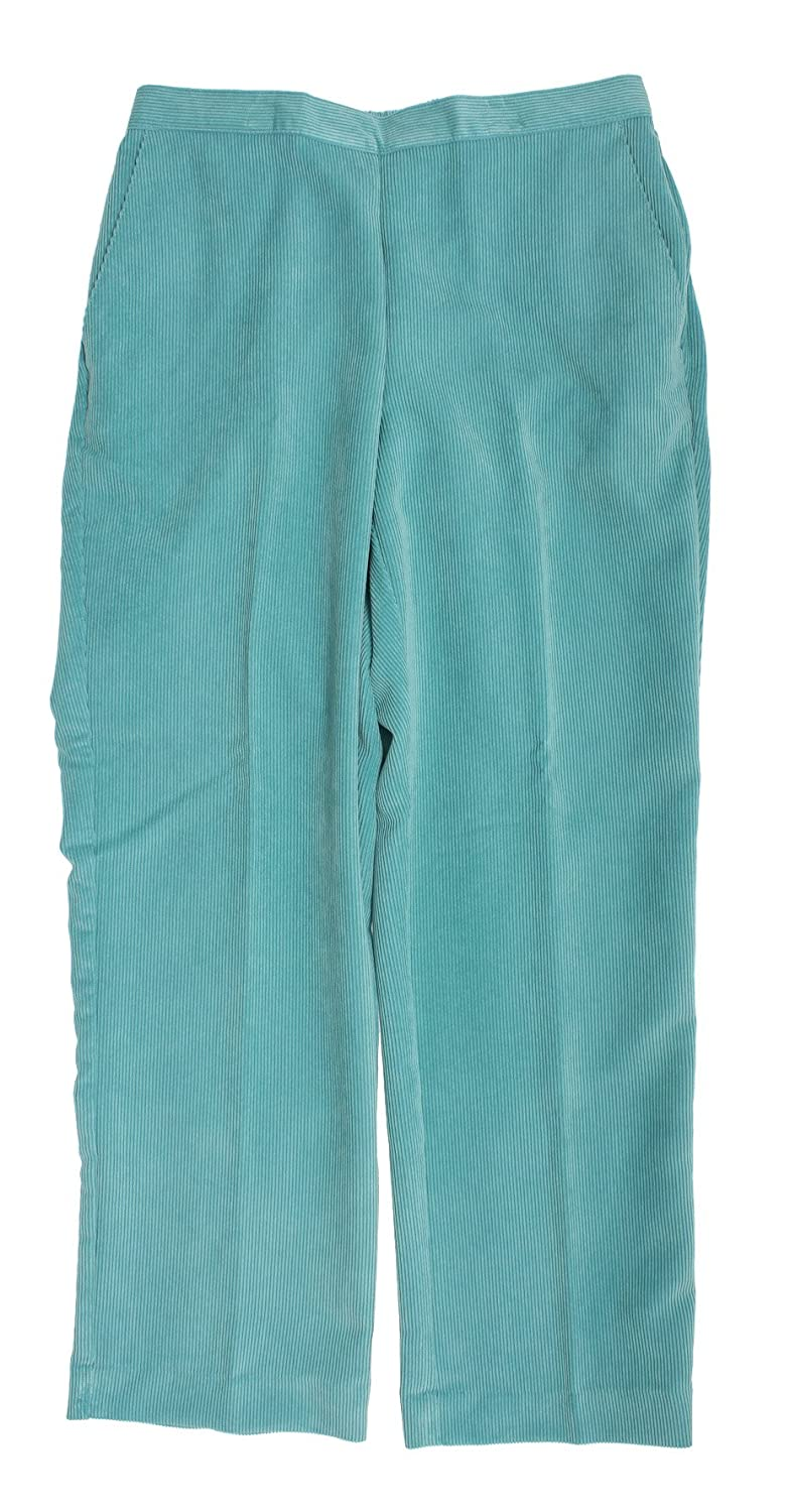 d95610f1 Alfred Dunner Womens Plus Flat Front Pull On Corduroy Pants