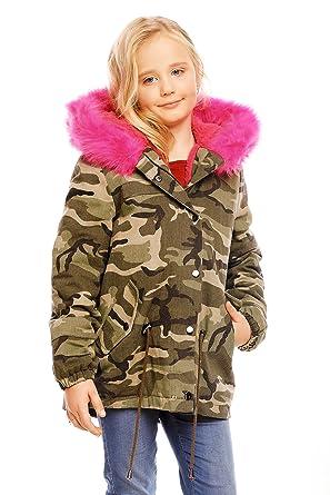 die beste Einstellung 82954 564c3 Osley Osley Mädchen Jacke mit Pink Fellkragen warmer Winter ...