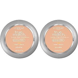 L'Oreal Paris Cosmetics True Match Super-Blendable Powder, Sand Beige, 2 Count