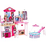 Barbie Complete Home Set - House and Pool Giftset inc 3 Dolls and 3 Furniture Sets