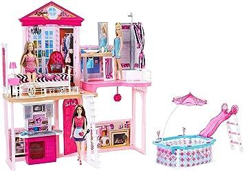Barbie FCK15 - Haus Möbel und Pool Geschenkset inklusiv 3 Barbie ...
