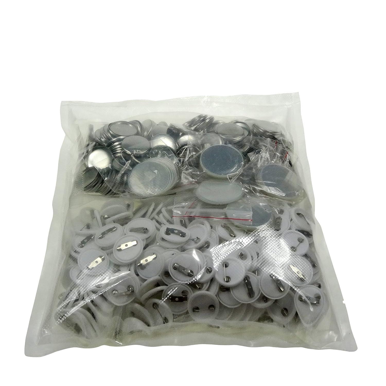 Sunshine chapas de 25 mm en blanco y botones de repuesto ...