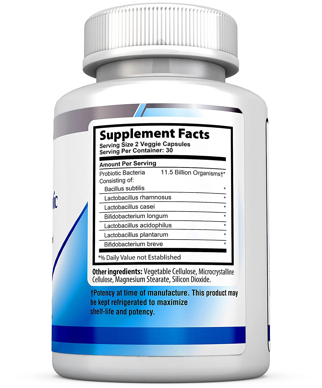 Suplemento para un sistema inmune saludable Health Labs Nutras Advanced Probiotic Extra Strength, restaura las bacterias beneficiosas, alivia el ...
