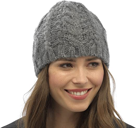 RJM TOM FRANKS Femme Câble Tricot Beanie Hat