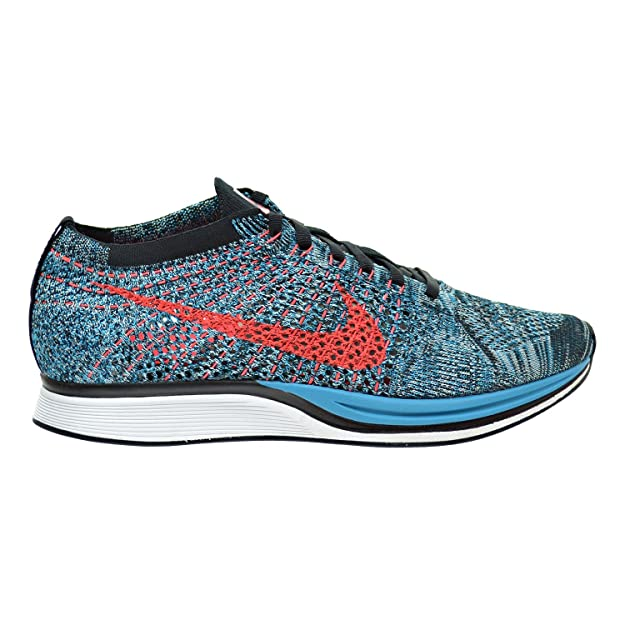 Amazon.com | NIKE Flyknit Racer Mens/Big Kids Shoes Neon Turquoise/Bright Crimson/Glacier Ice 526628-404 (11.5 D(M) US) | Road Running