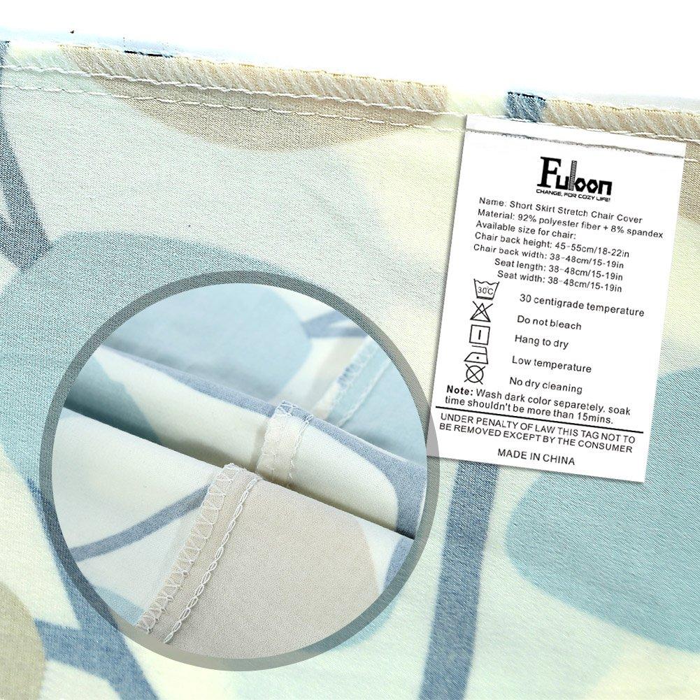 Amazon.de: Fuloon Stuhlhussen 2er/4er/6er Set Universell Stretch ...