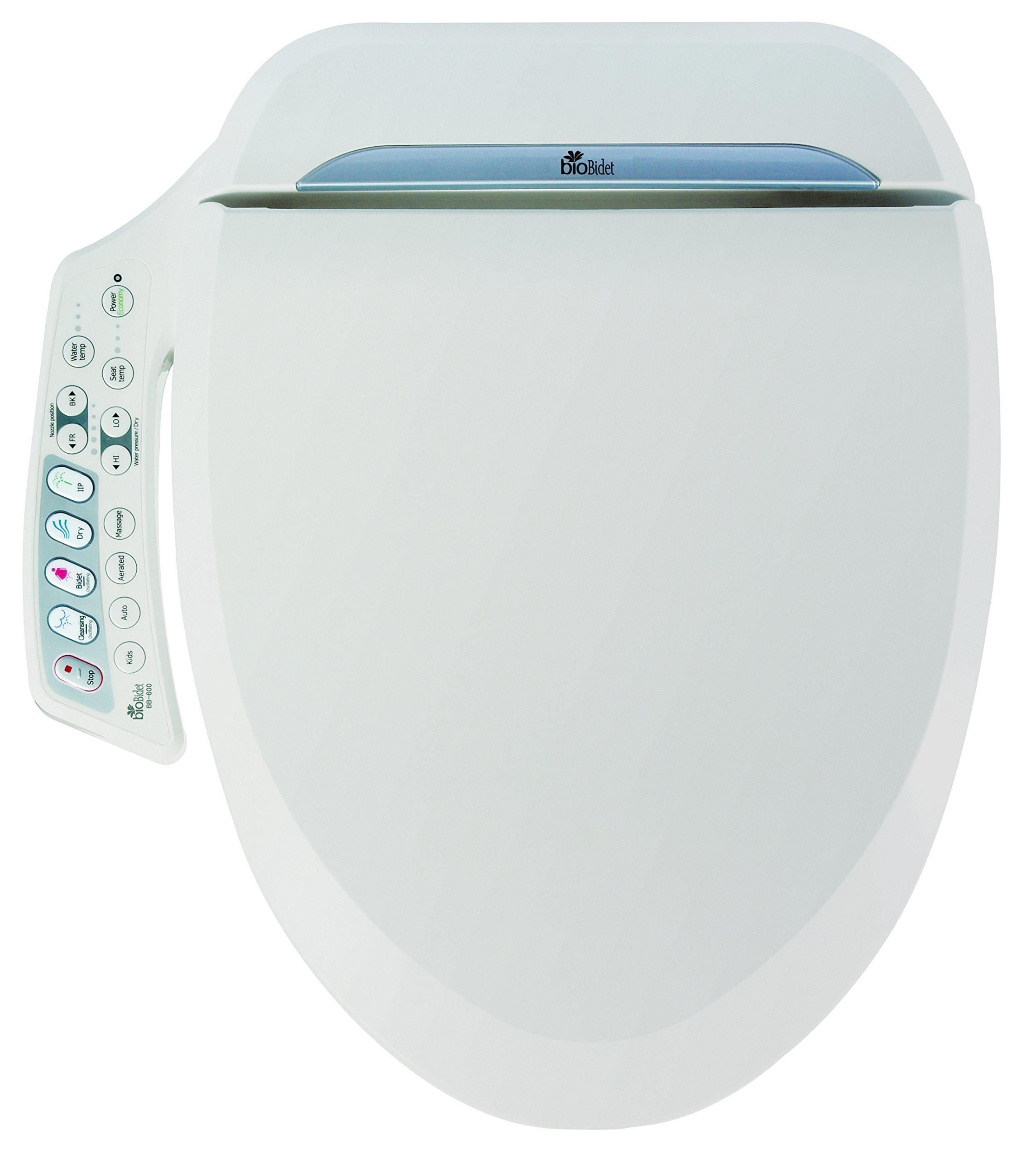 Bio Bidet Ultimate BB-600 Advanced Bidet Toilet Seat, Elongated White. Easy DIY Installation, Luxury Features From Side Panel, Adjustable Heated Seat and Water. Dual Nozzle Has Posterior and Feminine Wash by BioBidet (Image #2)