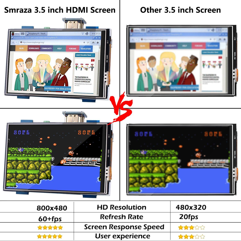 jeux darcade films de soutien entr/ée audio HDMI avec carte dextension RPI GPIO Pour Raspberry Pi /Écran Tactile///Écran TFT Display LCD 3,5 pouces avec stylet tactile