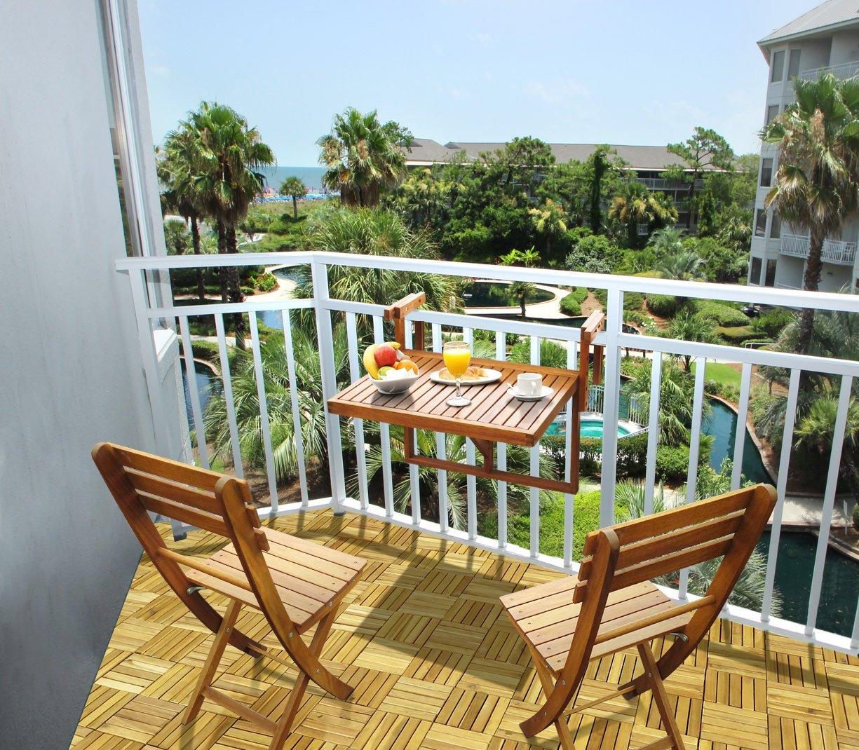 Amazon.com : INTERBUILD REAL WOOD Balcony Table & Sofia ...