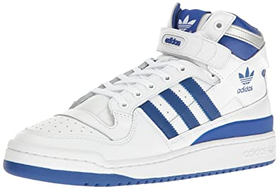 official photos 0bc82 3a7ea adidas Originals Mens Shoes  Forum Mid Refined Fashion Sneakers WhiteCollegiate  RoyalSilver