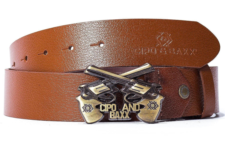 54a7cab3ebdce3 Cipo & Baxx Herren Gürtel Gun Schnalle Pistole Streetwear Disco Sommer  Style: Amazon.de: Bekleidung