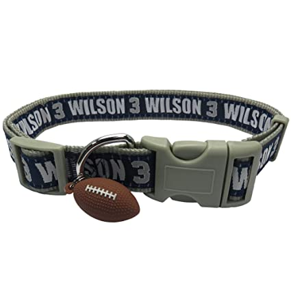 2d23ae0c5 NFLPA Dog Collar - Russell Wilson  3 Pet Collar - NFL Seattle Seahawks  Adjustable Dog