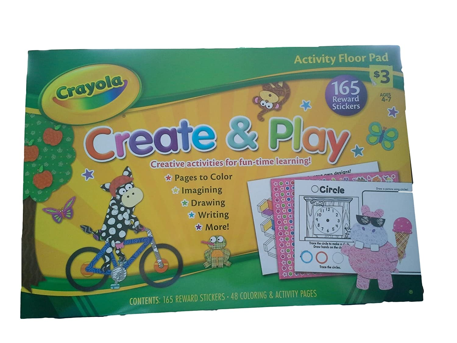 Amazon.com: Crayola Activity Floor Pads, Create & Play and Puzzles ...