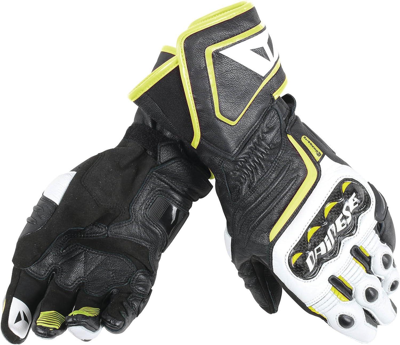 guantes de moto de cuero deportivo