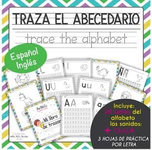 Mi Libro De Trazar El Alfabeto Español e Inglés, Bilingüe. Actividades De Trabajo Para La Mañana