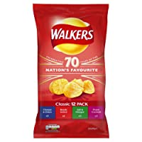 Walkers Classic Variety Multipack Crisps, 12 x 25 g