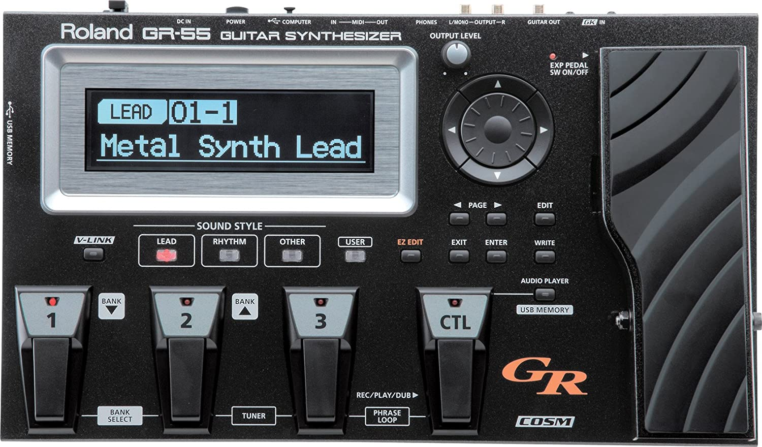 Roland GR-55 Guitar Synth - Black - Without GK-3 Pickup