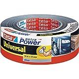 Tesa extra power universeel reparatietape, zilver, 50 m x 50 mm