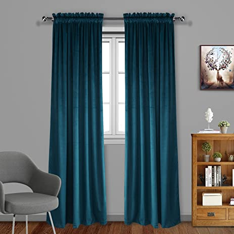 new design peacock drapes interior velvet of tsumi blue curtains best