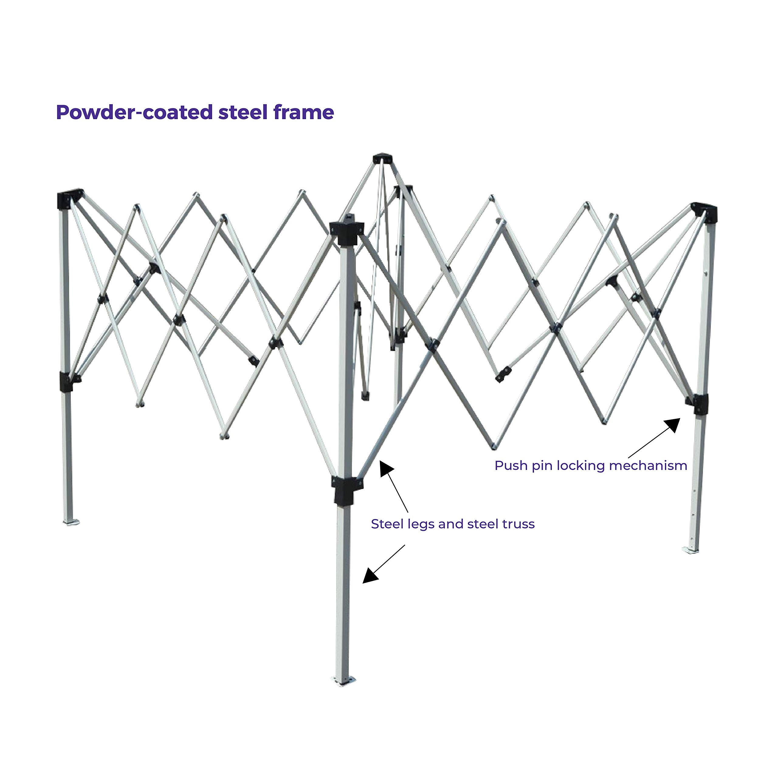 Impact Canopy 10' x 10' Pop-Up Canopy Tent, Instant Slant-Leg Portable Shade Tent with Carrying Bag, White by Impact Canopy (Image #2)
