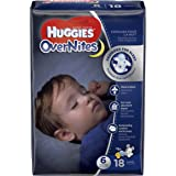 HUGGIES OverNites Diapers, Size 6, 18 ct, JUMBO PACK Overnight Diapers (Packaging May Vary)