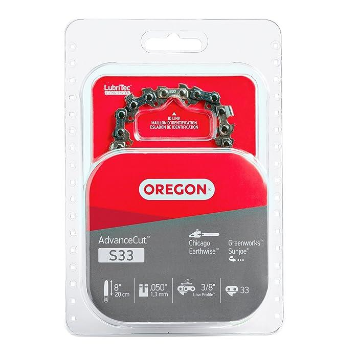 Oregon S33 AdvanceCut 8-Inch Chainsaw Chain, Fits Chicago, Earthwise, Greenworks, Sun Joe