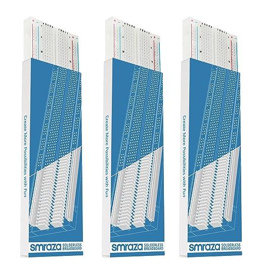 10 opinioni per Smraza Breadboard per Arduino MB-102 con 830 Punti Piastra Sperimentale Senza