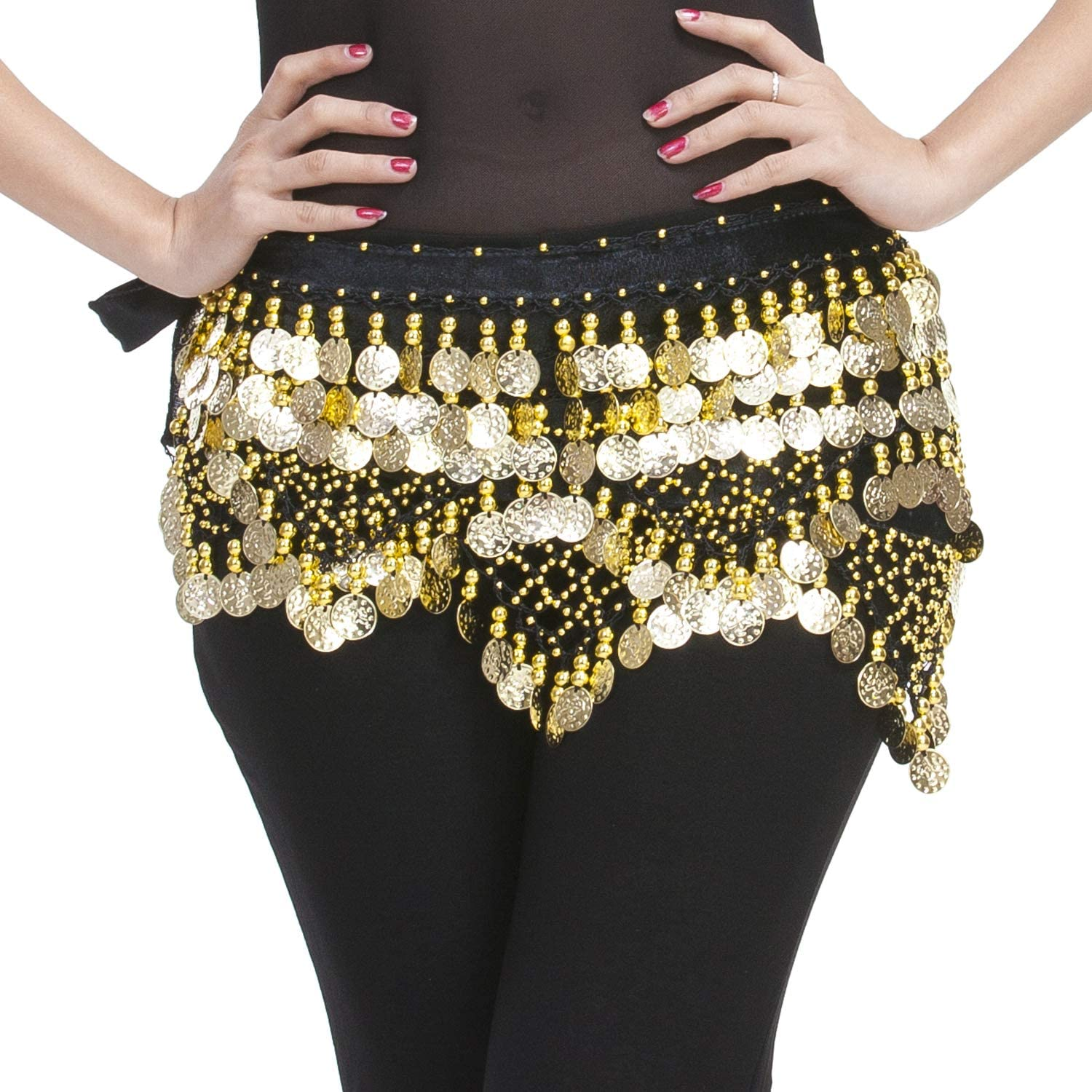 Professional 320 Silver Coins Belly Dance Dancing Hip Scarf Costume Belt FunnyJS