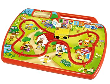 Tow N Go >> Amazon Com Kidz Delight Learn N Go Town Learning Toy Red